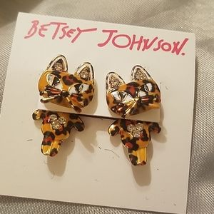 Betsey Johnson kitty leapord spots NWT